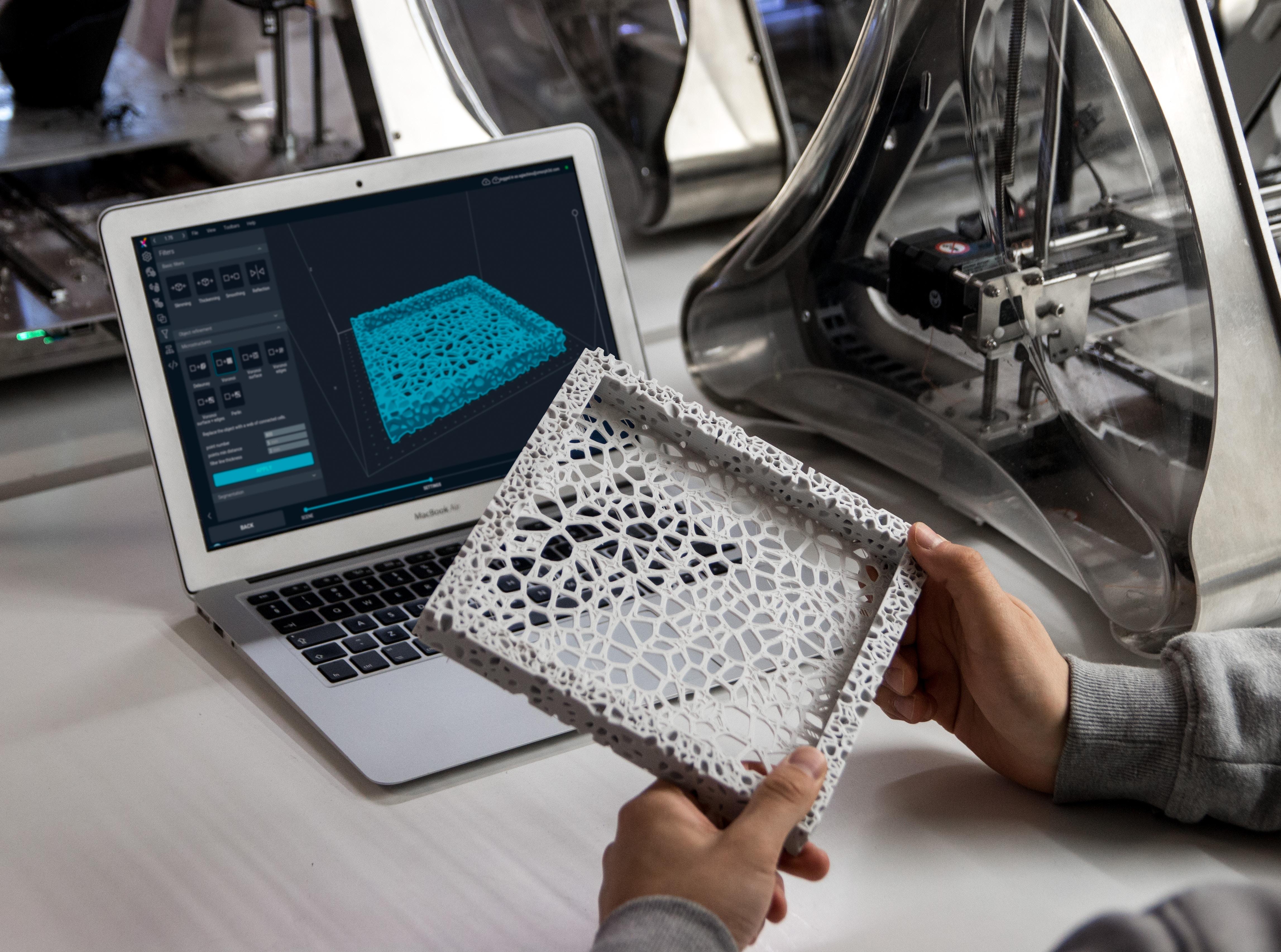 3D ontwerpt en prototyping, parts mfg.